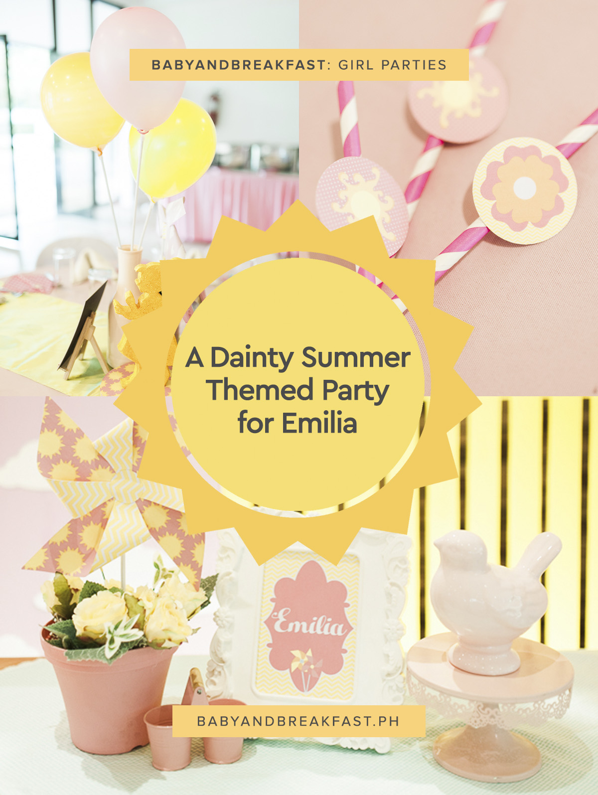 Baby and Breakfast: Girl Parties A Dainty Summer Themed Party for Emilia