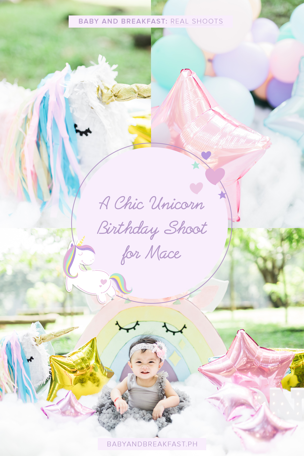 Baby and Breakfast: Real Shoots A Chic Unicorn Birthday Shoot for Mace