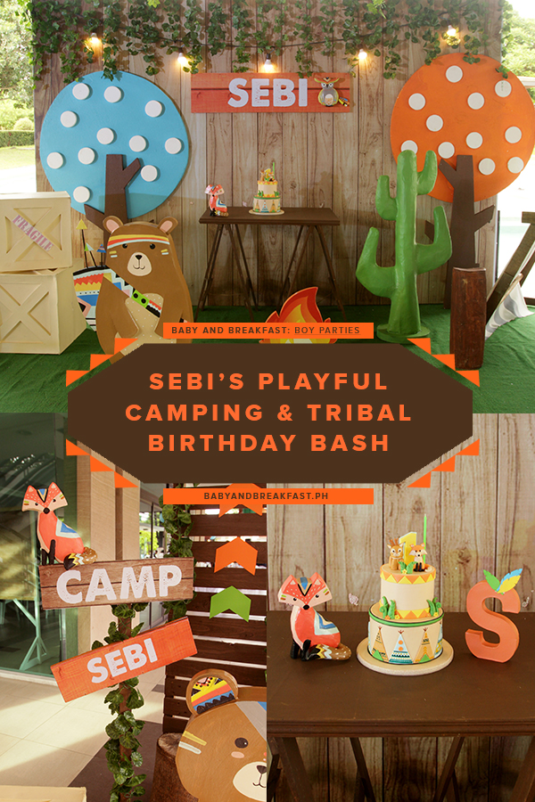 Baby and Breakfast: Boy Parties Sebi's Playful Camping and Tribal Birthday Bash