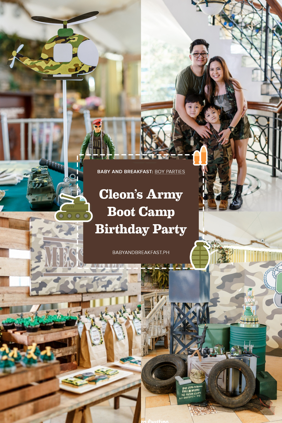 Baby and Breakfast: Boy Parties Cleon's Army Boot Camp Birthday Party