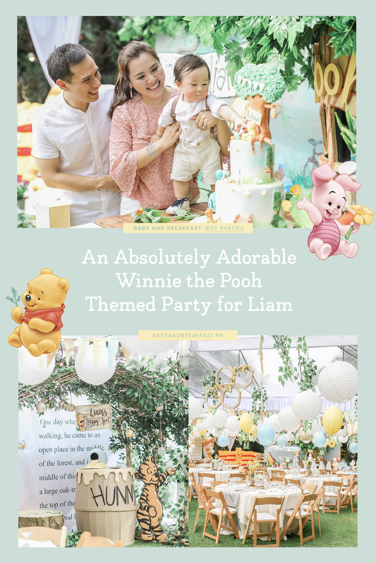 Baby and Breakfast: Boy Parties An Adorable Winnie the Pooh Themed Party for Liam