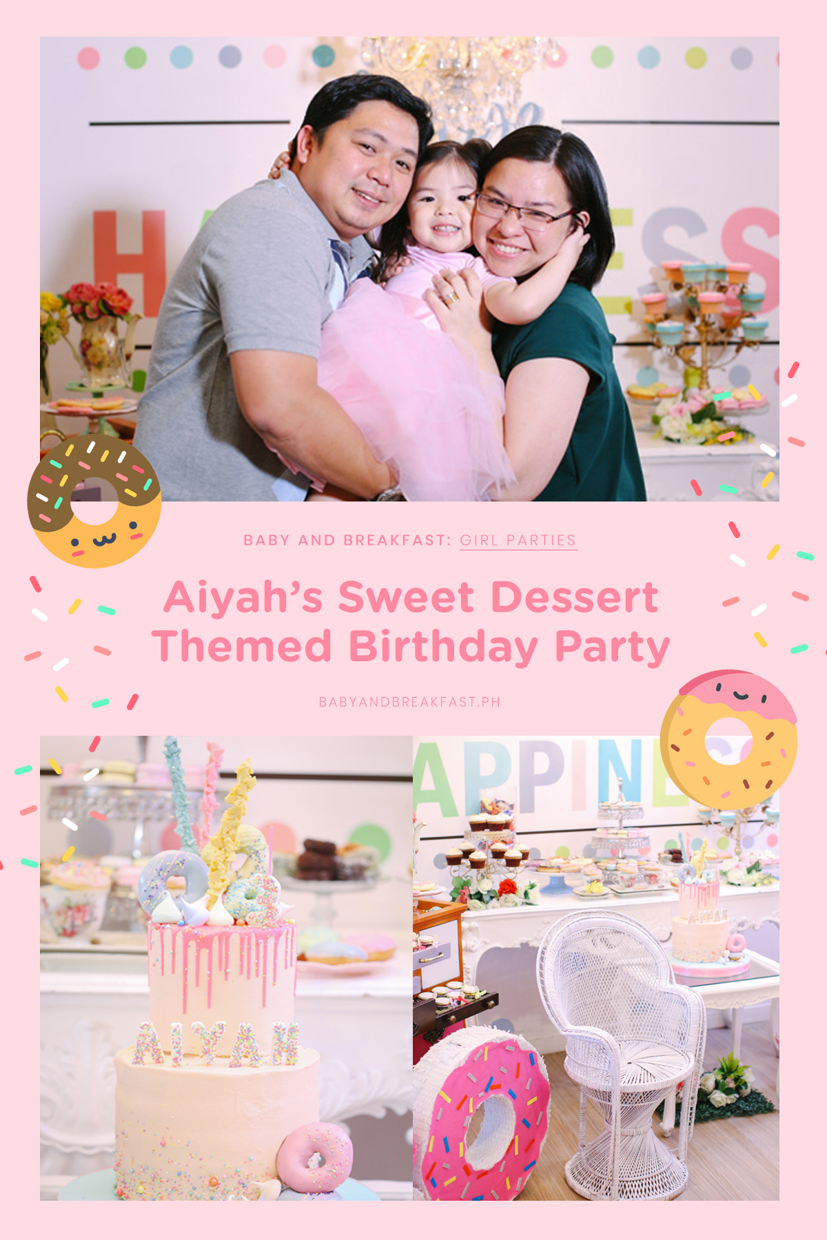 Baby and Breakfast: Girl Parties Aiyah's Sweet Dessert Themed Birthday Party