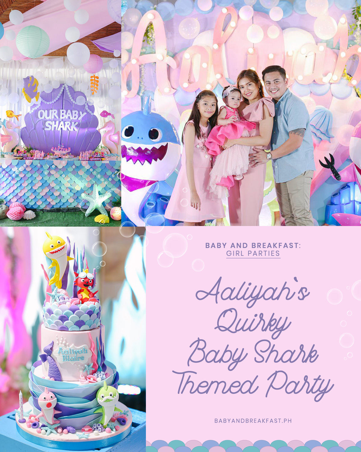 Baby and Breakfast: Girl Parties Aaliyah's Quirky Baby Shark Themed Party