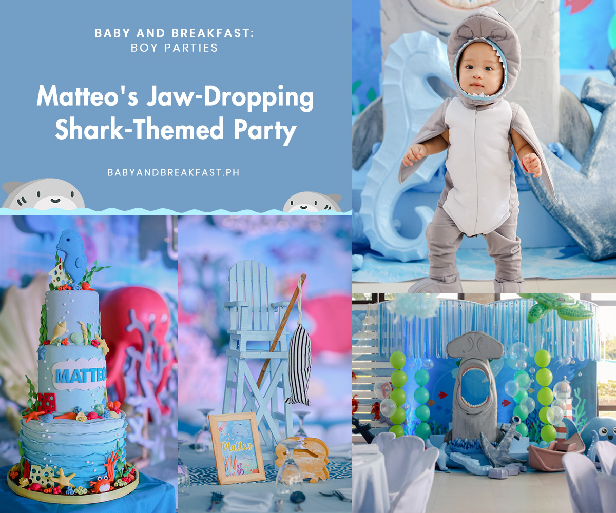 Baby and Breakfast: Boy Parties Matteo's Jaw-Dropping Shark-Themed Party