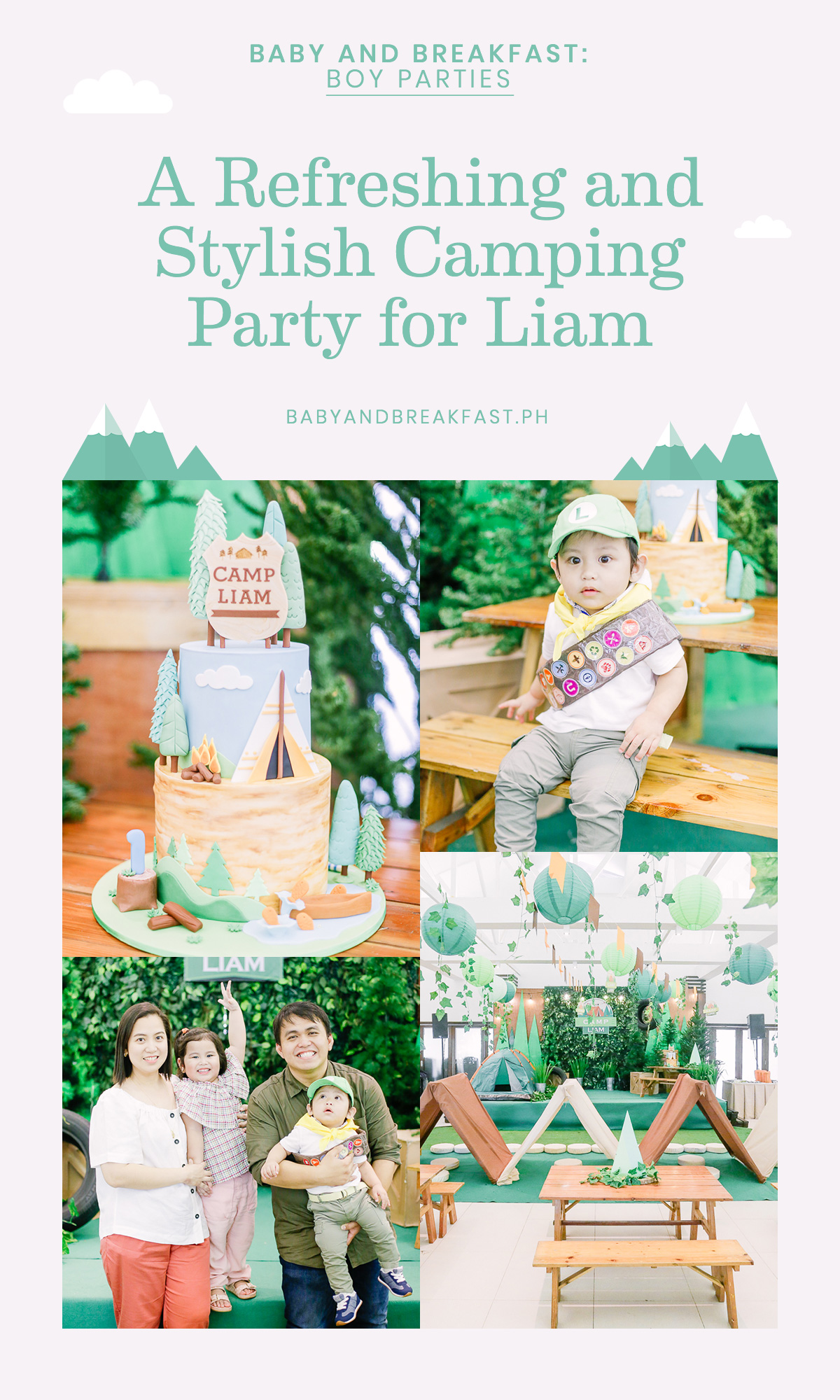 Baby and Breakfast: Boy Parties A Refreshing and Stylish Camping Party for Liam