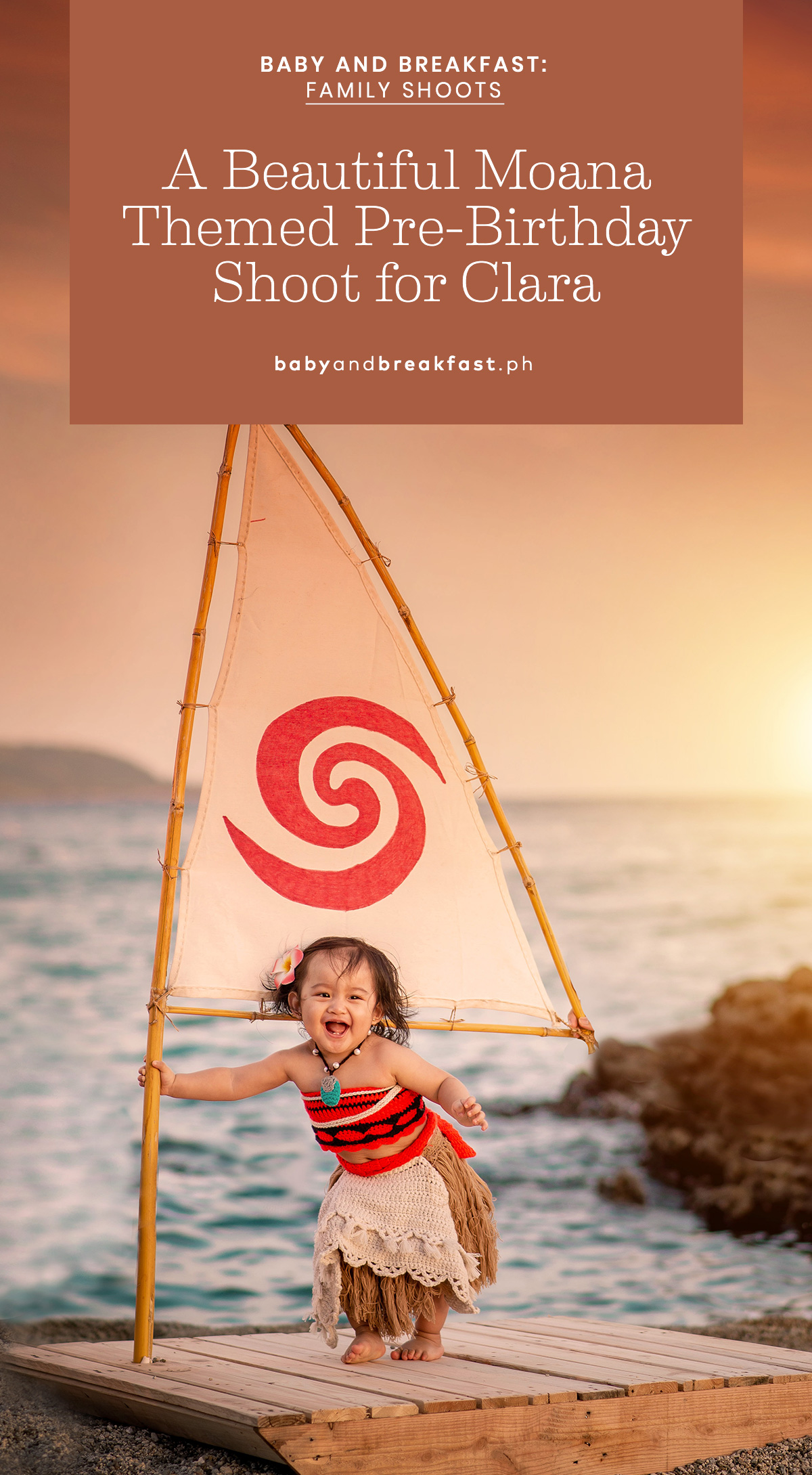 Baby and Breakfast: Family Shoots A Beautiful Moana Themed Pre-Birthday Shoot for Clara