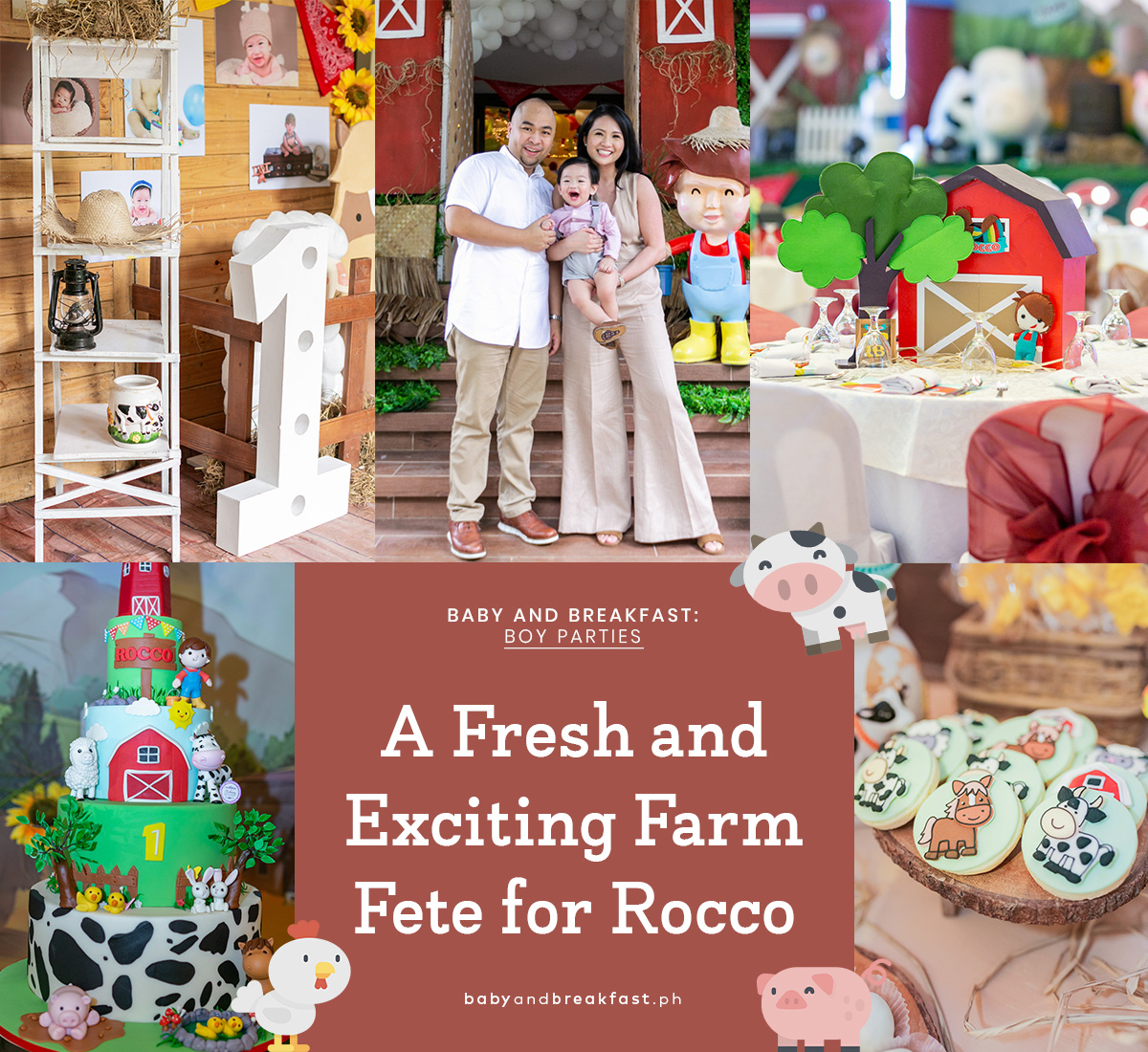 Baby and Breakfast: Boy Parties A Fresh and Exciting Farm Fete for Rocco