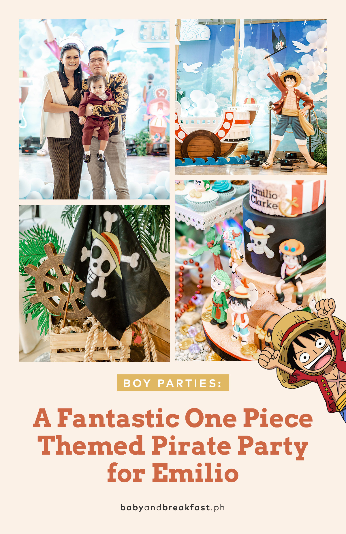 Baby and Breakfast: Boy Parties A Fantastic One Piece Themed Pirate Party for Emilio