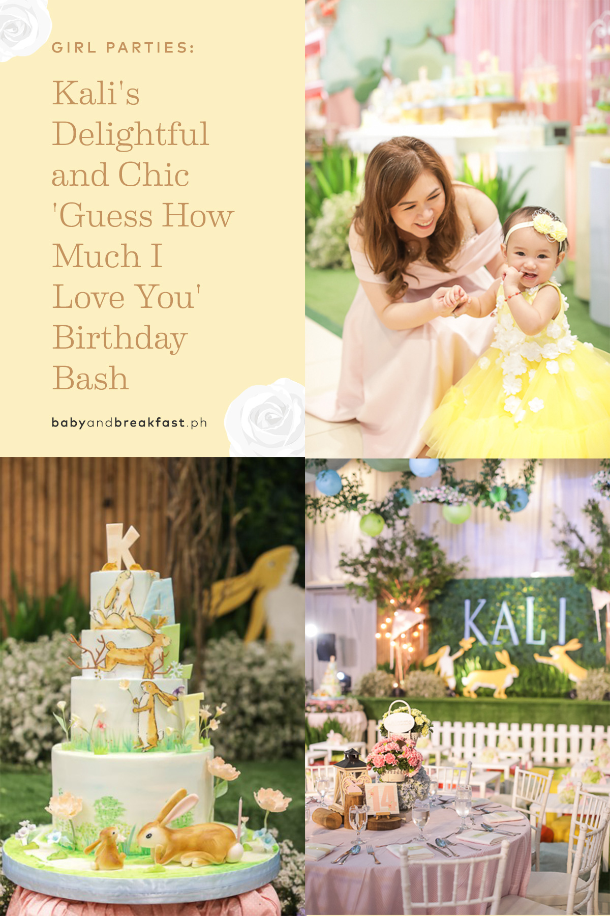 Kali's Delightful and Chic 'Guess How Much I Love You' Birthday Bash