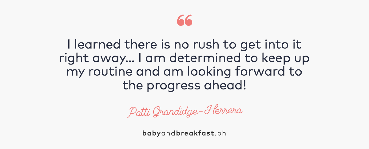 """""""I learned there is no rush to get into it right away... I am determined to keep up my routine and am looking forward to the progress ahead!"""" - Patti Grandidge-Herrera"""