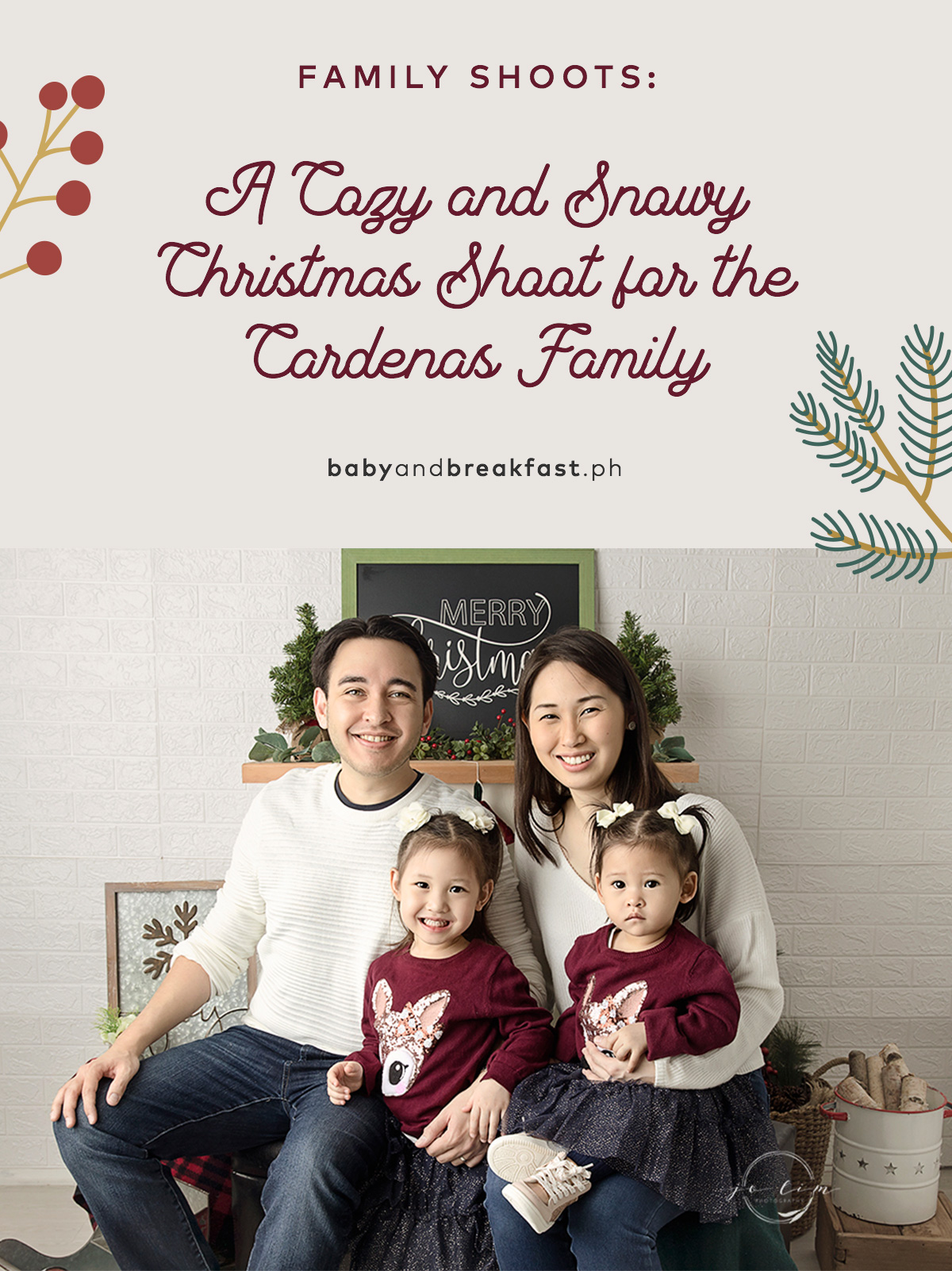 A Cozy and Snowy Christmas Shoot for the Cardenas Family