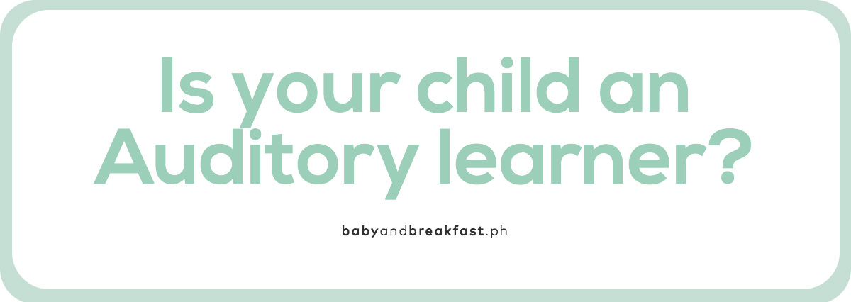 Is your child an Auditory learner?