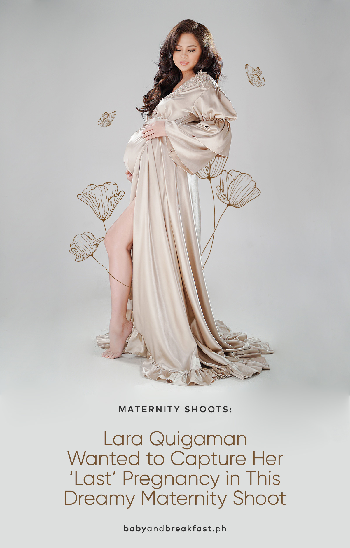 Lara Quigaman Wanted to Capture Her 'Last' Pregnancy in This Dreamy Maternity Shoot