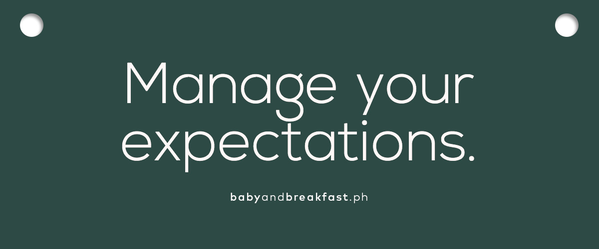 (Layout) Manage your expectations