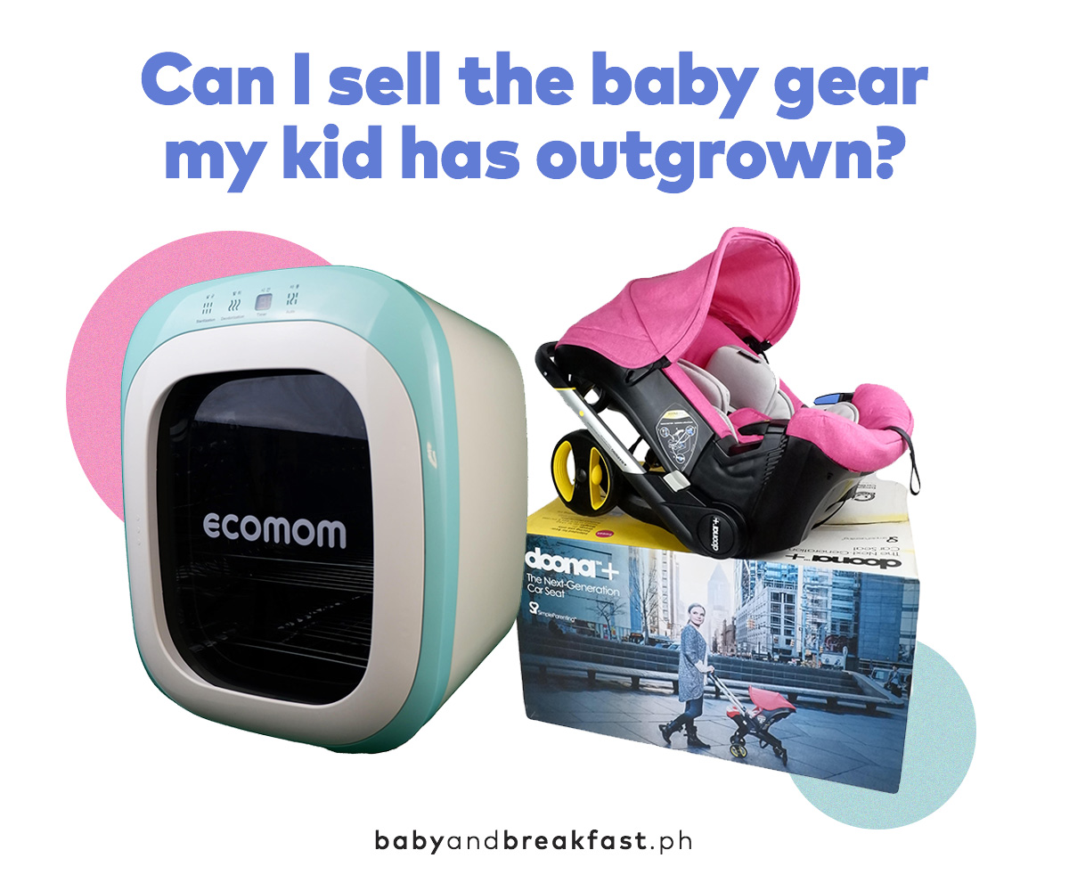 Can I sell the baby gear my kid has outgrown?