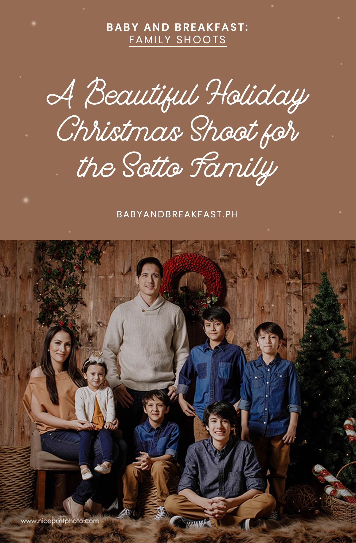 Baby and Breakfast: Family Shoots A Beautiful Holiday Christmas Shoot for the Sotto Family